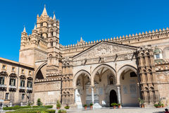 Detail of the cathedral in Palermo Stock Image