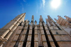 Detail of Cathedral of Palma Stock Photo