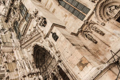 Detail of the Cathedral of Regensburg Stock Photo