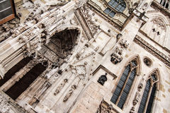 Detail of the Cathedral of Regensburg Royalty Free Stock Photography