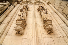 Detail of the Cathedral of Regensburg Stock Photos