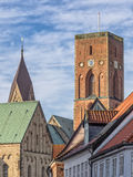 Detail of the cathedral in Ribe, Denmark Stock Photos