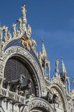 Detail of the cathedral of San Marco stock photo