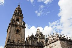 Detail of Cathedral of Santiago de Compostela Royalty Free Stock Image