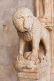Detail of the Cathedral of St. Lawrence in Trogir, Croatia Stock Image