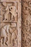 Detail of the Cathedral of St. Lawrence in Trogir, Croatia Royalty Free Stock Photography