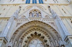 detail of Cathedral in Zagreb, Croatia. Stock Photo