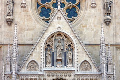 Detail of the Cathedral in Zagreb, Croatia Stock Image