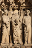Detail of Cathedrale Notre Dame de Paris Stock Images