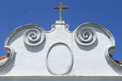 Detail of catholic church stock photo