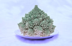 Texture of cauliflower on white Stock Photo