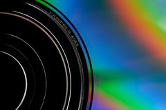 Detail of CD disk Stock Image