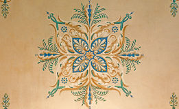 Detail of ceiling fresco in palace Saint Anton Royalty Free Stock Image