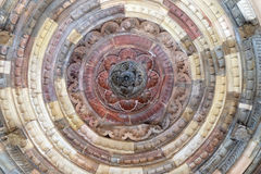 Detail of the ceiling in one of the buildings Qutub Minar, Delhi Stock Photos