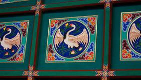 Detail, Ceiling of Pagoda, Beijing. Detail, ceiling of a pagoda in Jingshan Park, Beijing Stock Photos