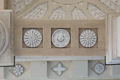 Ceiling of the portico in Vilnius Cathedral, Lithuania royalty free stock photos