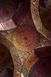 Detail of the ceiling tilework decoration in the Nasir al Molk Stock Photography