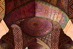 Detail of the ceiling tilework decoration in the Nasir al Molk Royalty Free Stock Photography