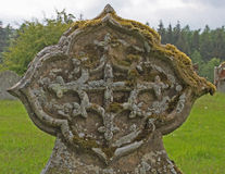 Detail of Celtic cross in churchyard, near loweswater, Lake district. Royalty Free Stock Photos