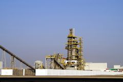 Cement plant. stock image