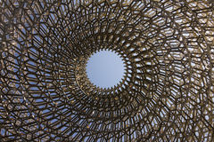 Detail on the center of the intricate structure of the British Pavilion at the Milan EXPO 2015 Royalty Free Stock Photos