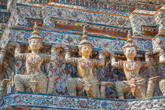 Detail of the Central Pagoda at Wat Arun - the Temple of Dawn in Bangkok Royalty Free Stock Images
