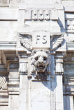 Detail of the central train station, Milan. Italy Stock Image