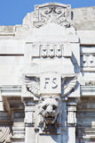 Detail of the central train station, Milan. Italy Stock Photos
