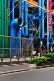 Detail of the Centre de Pompidou Royalty Free Stock Images