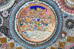 Detail of ceramic bowl. On the wall with crystal Stock Images