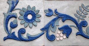 Detail of ceramic tile pattern stock photography