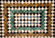 Detail of ceramic wall. Details of a nice ceramic old wall in Alhambra Castle, Granada Spain stock photos