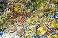 Detail of the ceramics. Casa Batllo Royalty Free Stock Images