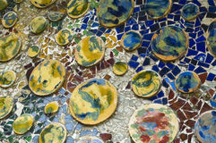 Detail of the ceramics from the Casa Batllo in Bar Stock Image