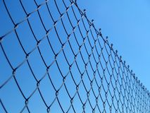 Detail of a chain fence. Chain metallic fence Stock Photos
