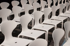 Detail of chairs at Miart 2014 in Milan, Italy Royalty Free Stock Photos