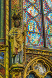 Detail of the chapel of the Sainte-Chapelle Royalty Free Stock Photography