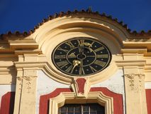 Detail of the chateau with clock Royalty Free Stock Photos