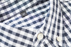 Detail check shirt fabric Stock Photo