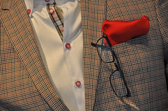 Detail of checkered casual suit Stock Photography