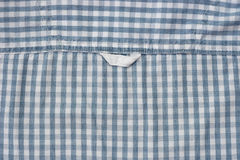 Detail of checkered shirt Royalty Free Stock Image