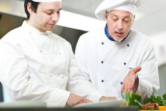 Detail of a Chef at work Royalty Free Stock Images