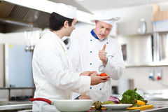 Detail of a Chef at work Royalty Free Stock Photo