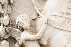 Detail of a cherub marble Royalty Free Stock Images