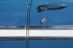Detail of a 1956 Chevrolet Door Stock Photos