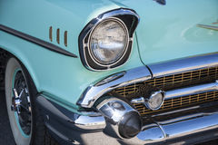 Detail of a Chevrolet vin. Front detail of a Chevrolet vintage car Royalty Free Stock Photo