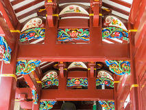 Detail of the Chinese Buddhist Temple stock photos