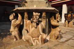 Detail of Chinese stone stupa, Wat Pho , Bangkok, Thailand Royalty Free Stock Photography