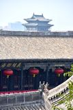 Detail of a Chinese Temple at Pingyao Ancient City, China. Asia stock photo