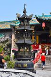 Detail of a Chinese Temple at Pingyao Ancient City, China stock photos